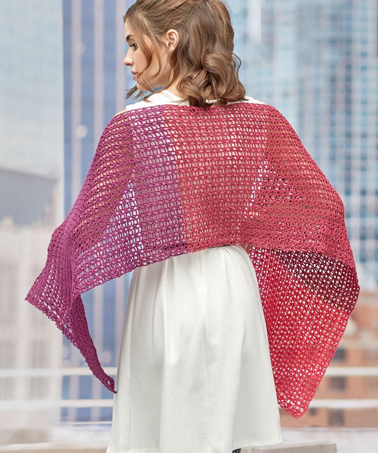 Delicate Romance Shawl Free Crochet Pattern LW6074