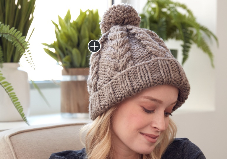 Intermediate Cozy Cable Knit Hat