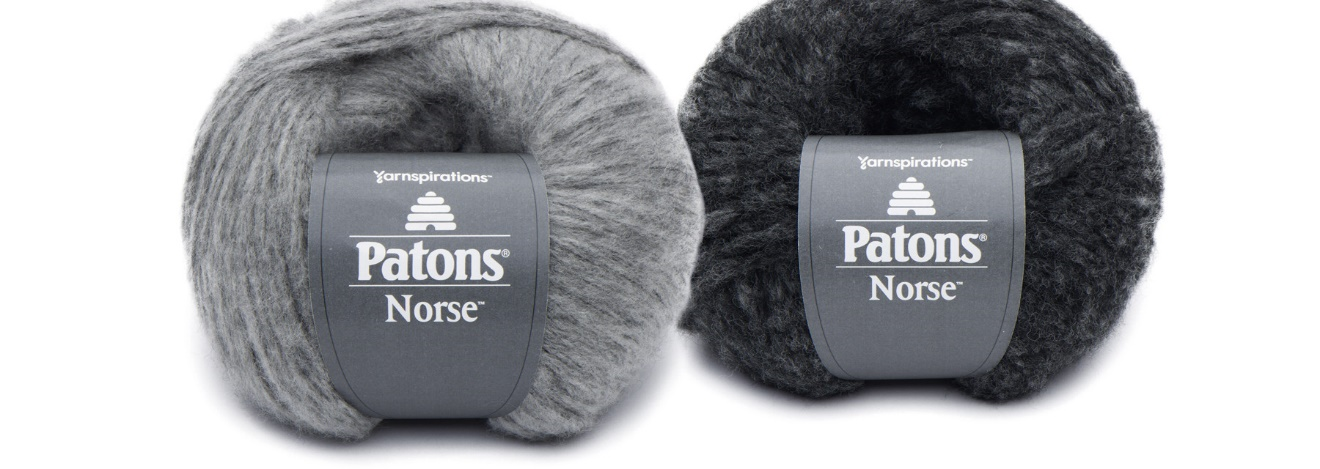 Paton Norse Yarn in color Back and Gray