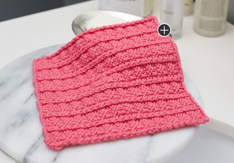 Easy Sailor's Rib Stitch Washcloth