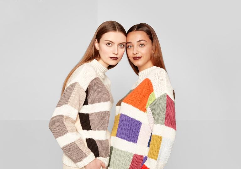 Intermediate Color Swatch Knit Sweaters