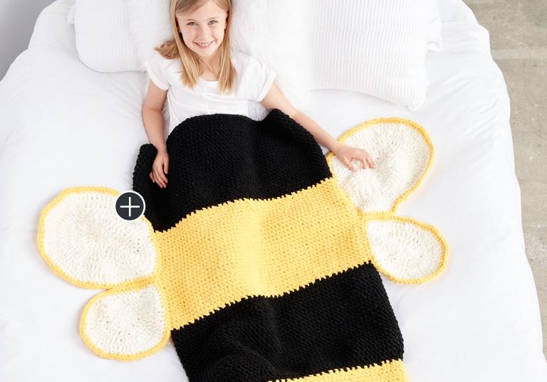 Easy Bumble Bee Crochet Snuggle Sack