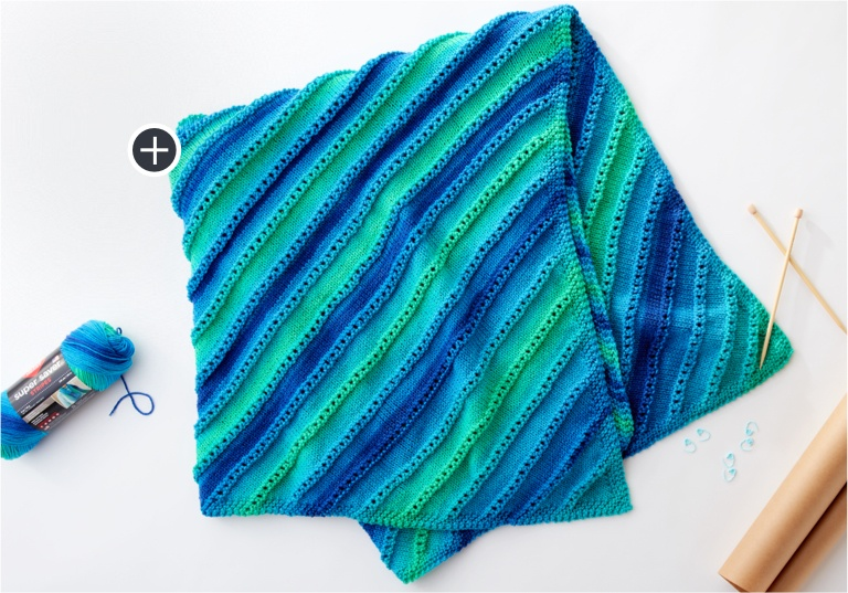 Easy Shore to Shore Knit Blanket
