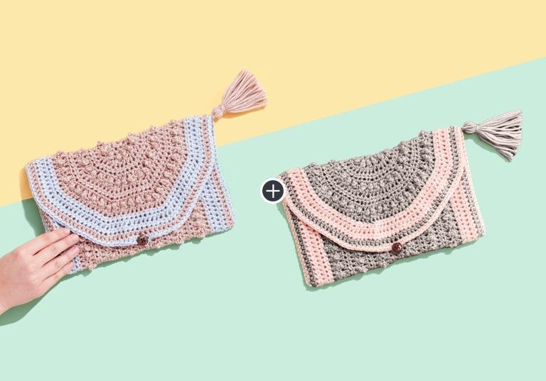 Caron x Pantone Bamboo Crochet Clutch