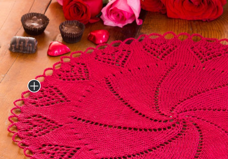 Intermediate Crochet Valentine Heart Doily