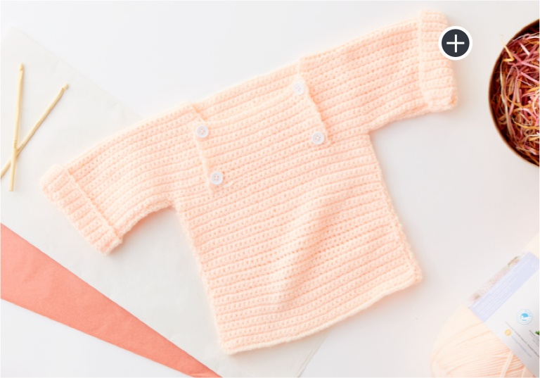 Beginner Crochet Baby Pullover