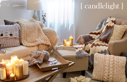 Image of candelight in living room