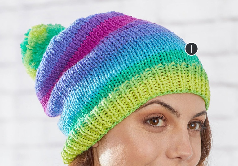 Easy Knit Stripes Hat