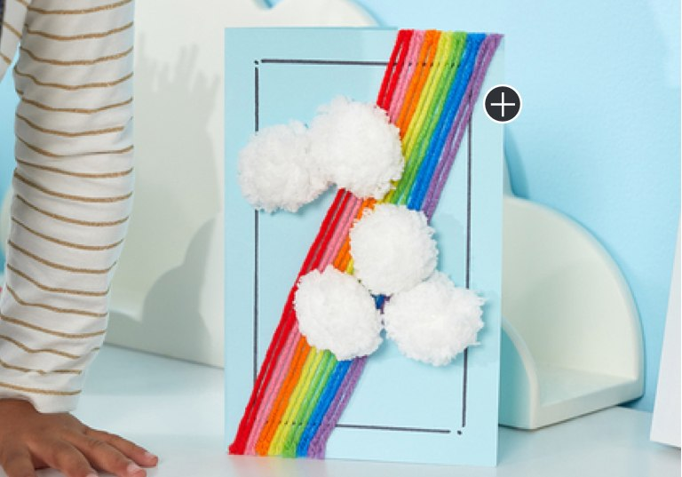 Beginner Rainbow & Clouds Greeting Card