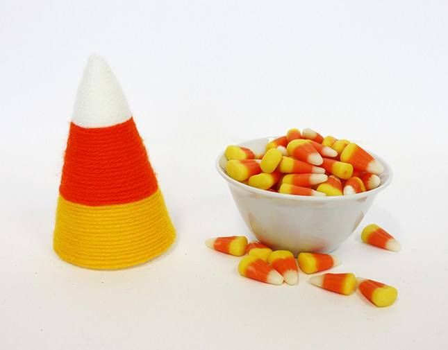 Yarn Wrapped Candy Corn