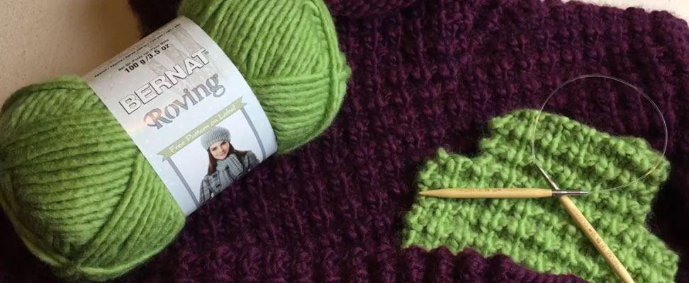 Easy Going Knit Pullover in Bernat Roving yarn