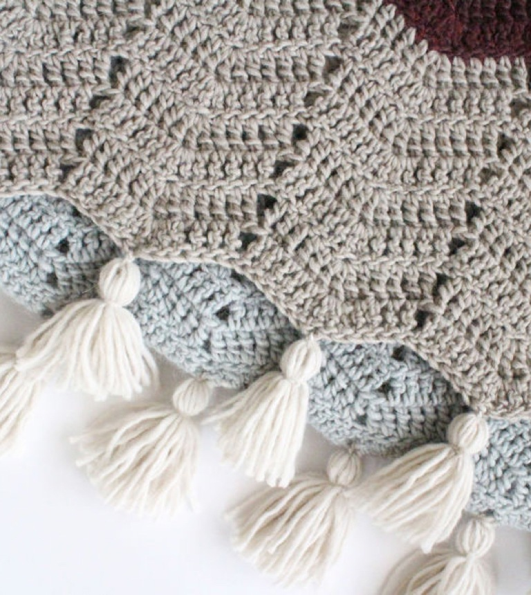 Easy Comfy Chevron Crochet Super Scarf