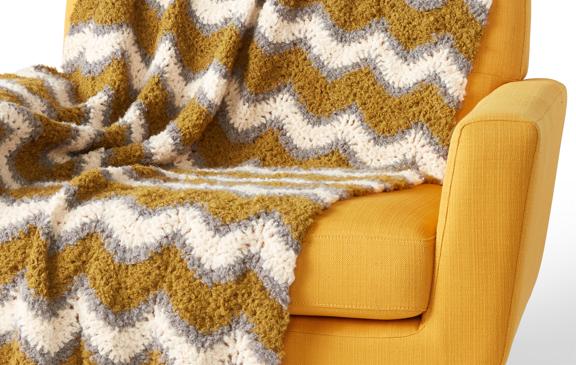 Bernat Foamy Waves Crochet Blanket