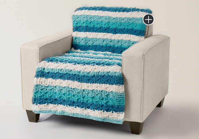 Easy Knit Quilted Blanket