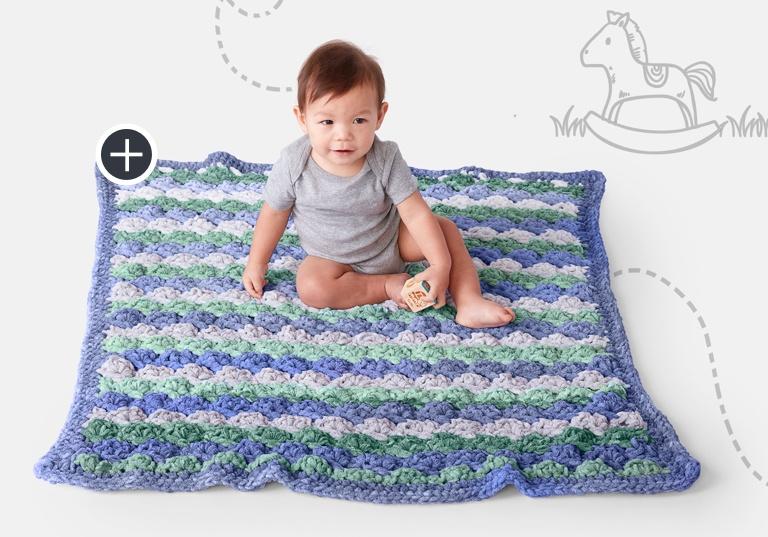 Easy Tippy Toes Crochet Blanket