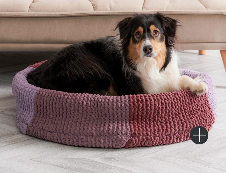 image of Bernat Knit Pet Bed Blanket