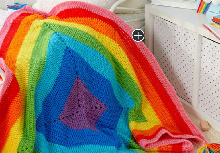 Easy Crochet-A-Rainbow Blanket