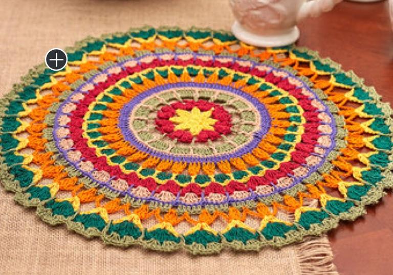 Intermediate Crochet Mandala Doily