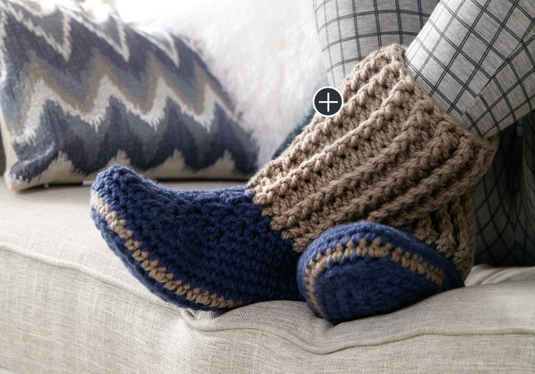 Intermediate Crochet Slipper Socks