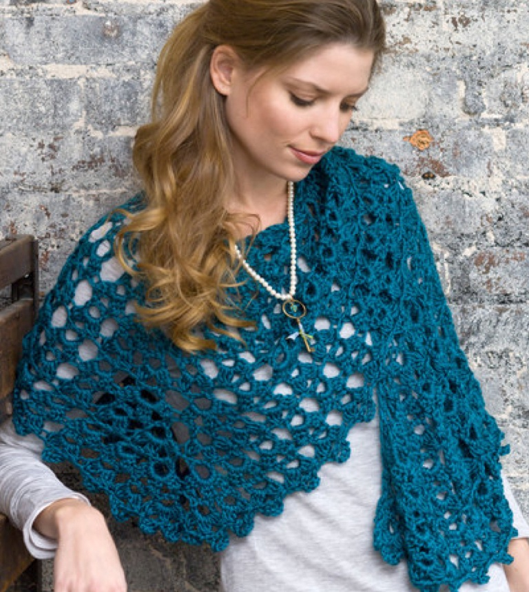 Easy Graceful Shell Crochet Shawl
