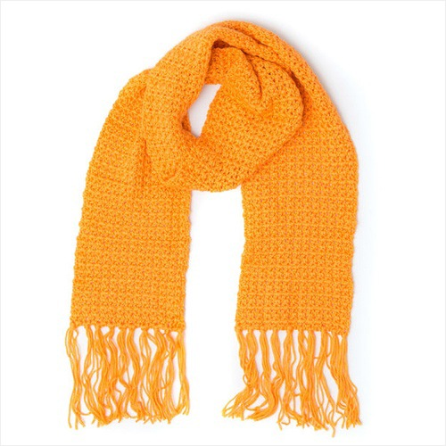 Free Crochet Pattern - Straight Up Scarf in Caron Simply Soft Brites yarn