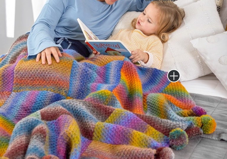 Easy Great Squares Knit Blanket