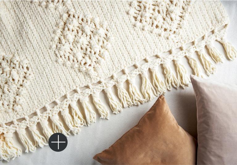 Bernat Knot macrame blanket