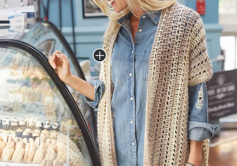 Easy Two Rectangle Crochet Cardigan