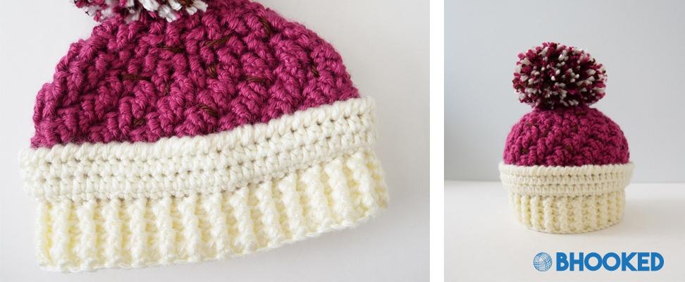 Finished Ice Cream Swirl Crochet Hat in Caron Simply Soft yarn