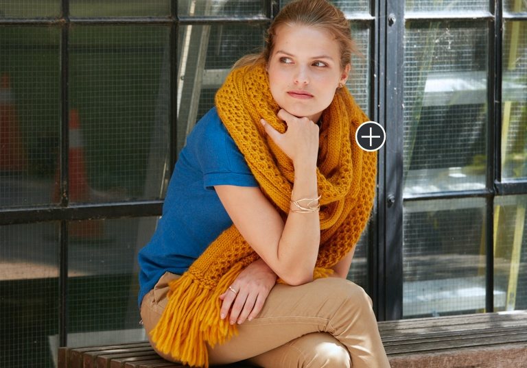 Intermediate Honeycomb Twist Knit Super Scarf