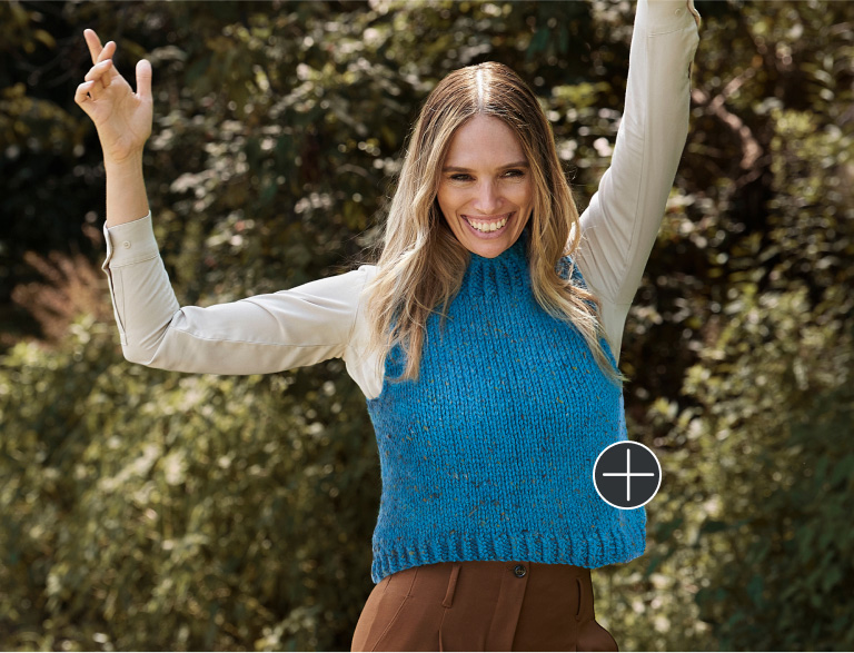 Easy Patons Wellesley Chunky Knit Vest
