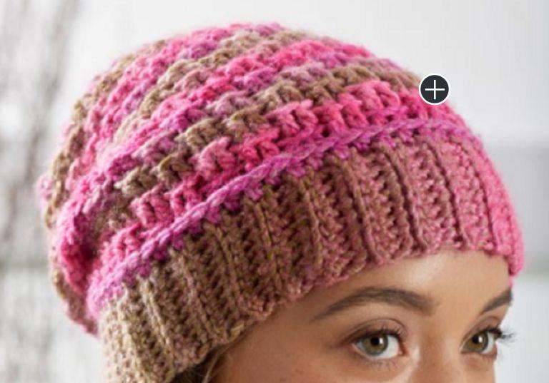 Intermediate Textured Reversible Crochet Beanie