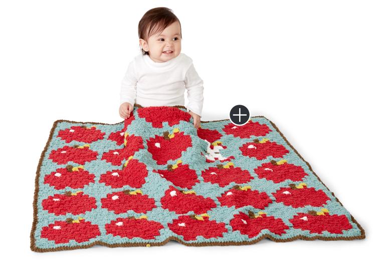 Intermediate How 'Bout Them Apples? Crochet Blanket