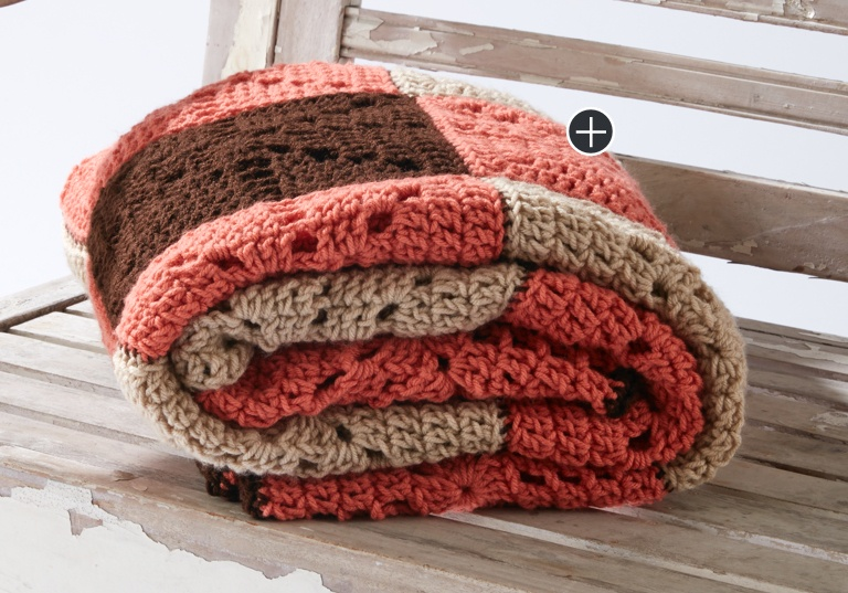 Easy Square Dance Crochet Blanket