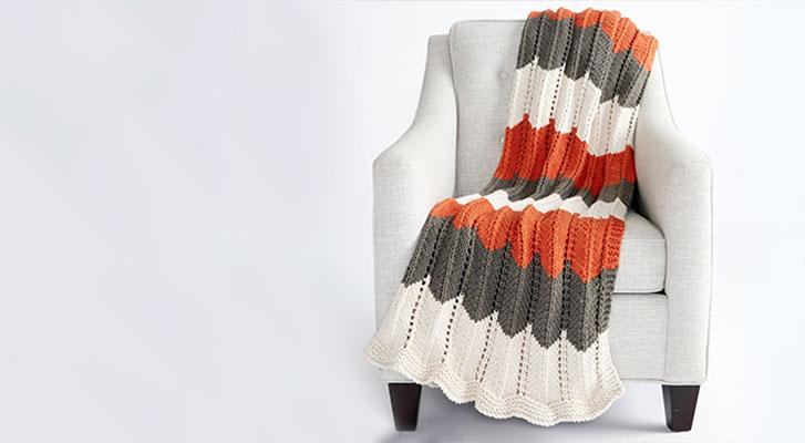 Make a Ripple and Ridge Knit Blanket