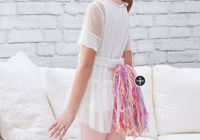 Easy Unicorn Tail and Crochet Horn Headband