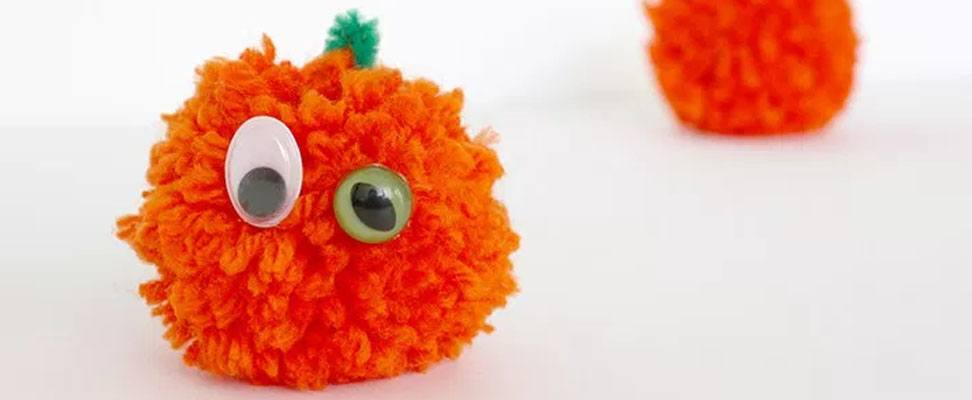 Simply Adorable Pompom Pumpkin!