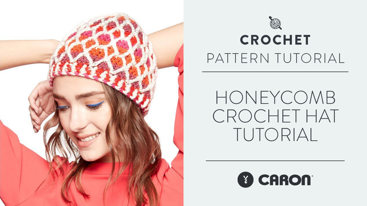 Honeycomb Crochet Hat Tutorial
