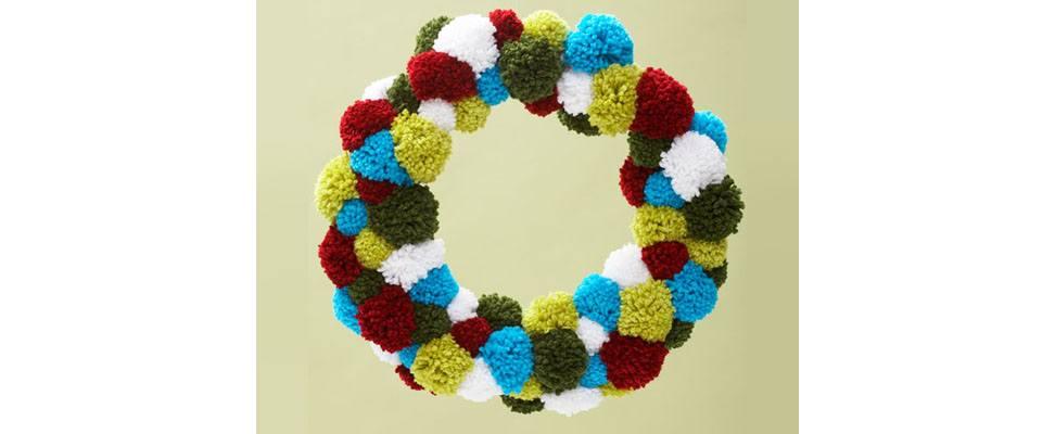 Pompom Wreath