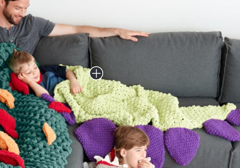 Easy Dino Tail Crochet Snuggle Sack