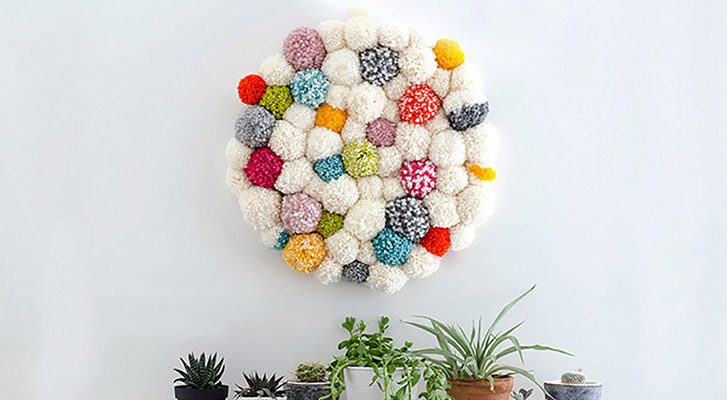 Make a Pompom Wall Hanging