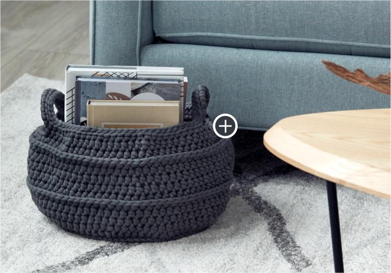 Easy Crochet Basket with Handles