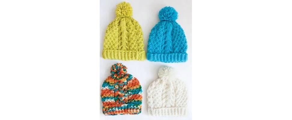 Perfect Gift Stitch Along Patterns in Bernat Softee Chunky yarn