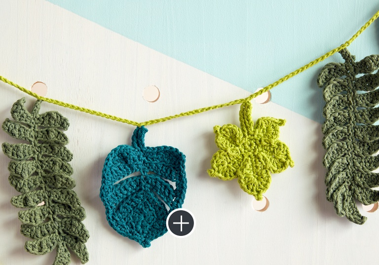 Intermediate Better Be-Leaf It Crochet Garland