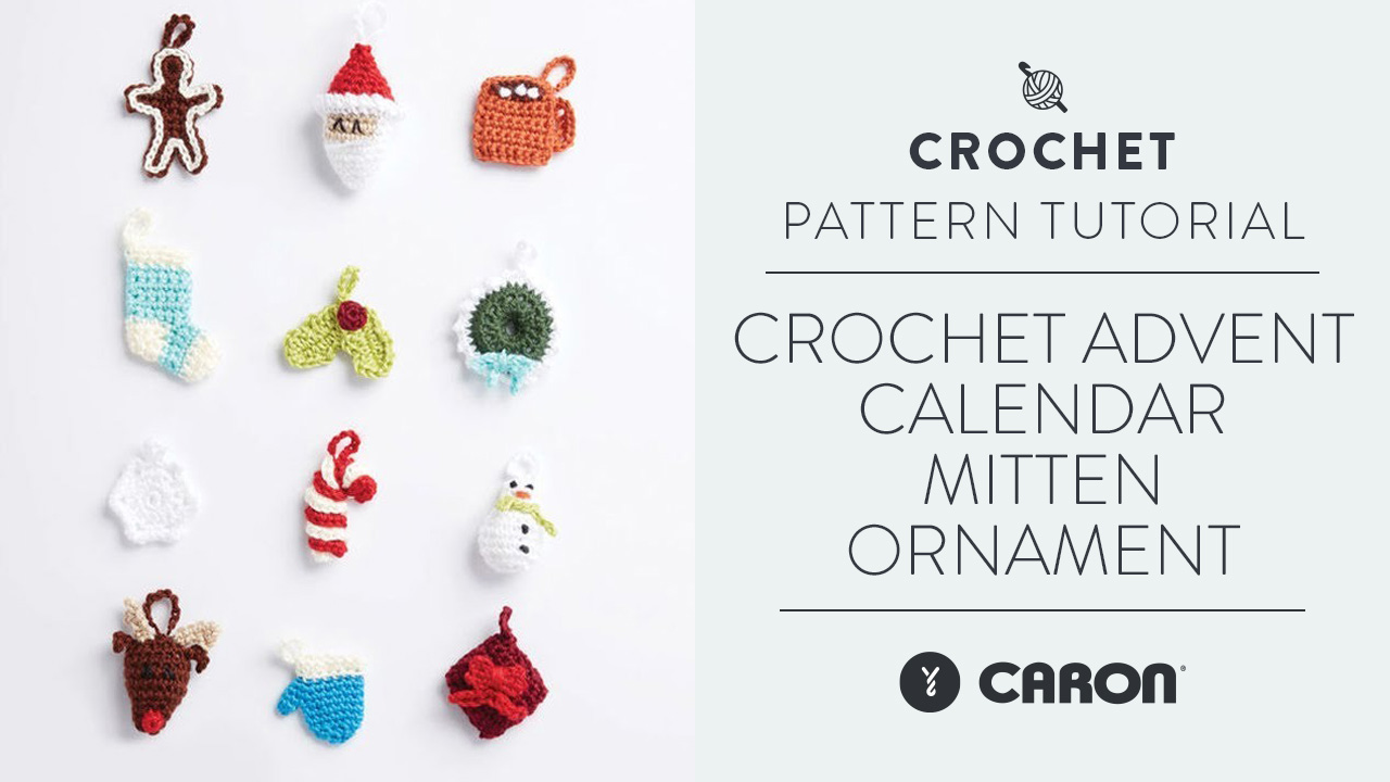 Crochet: Advent Calendar Mitten Ornament