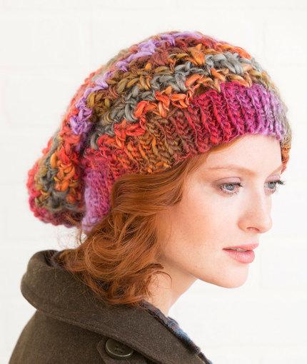 Upscale Slouchy Hat Free Crochet Pattern LW5166
