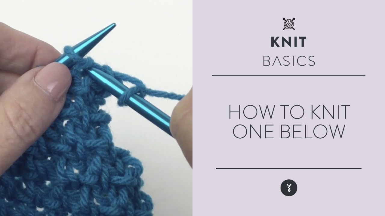 How to Knit One Below