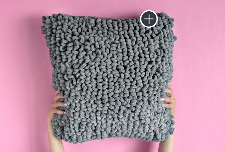 Bernat Blanket-EZ Loopy Pillow