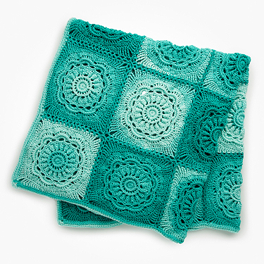 Red Heart floaral beauty throw