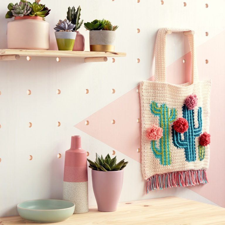 Intermediate Crochet Cactus Tote